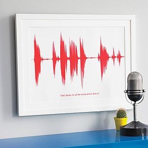 Personalised Voice Or Song Sound Wave Print - gifts for fathers