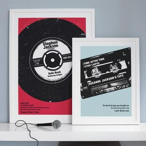 Personalised Number One Vinyl Print - gifts for music fans