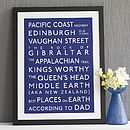 Personalised Classic Destination Print - living & decorating