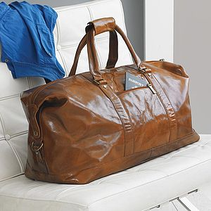 Leather Holdall - gifts for him