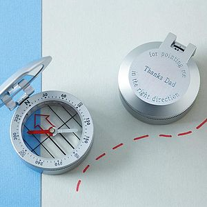 Personalised Metal Travel Compass - office & study