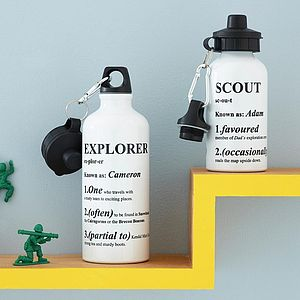 Personalised Definition Water Bottle - gifts for globetrotters