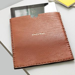 Handmade Leather Case For iPad - father's day gifts
