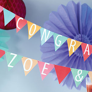 Card Alphabet Bunting Kit - party styling