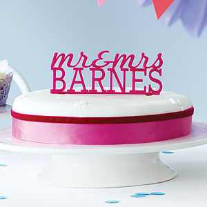 Personalised 'Mr & Mrs' Cake Topper - bakeware & cooking