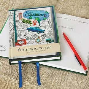 'Dear Grandad' Journal Of A Lifetime - gifts under £15