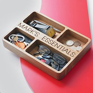 Personalised Oak Organiser Tray - last-minute christmas gifts for him