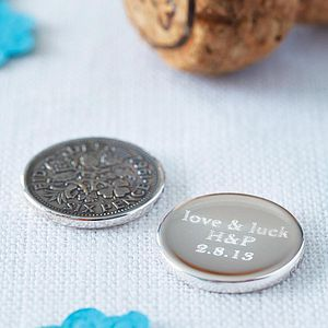 Silver Sixpence Keepsake - wedding gifts