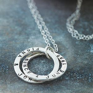 Personalised Interlinking Names Necklace - gifts for her
