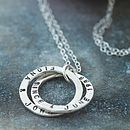 Personalised Interlinking Names necklace, stirling silver with black finish