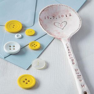 Personalised Ceramic Baby Spoon - new baby keepsakes