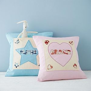 Personalised Pocket Cushion Cover - baby & child