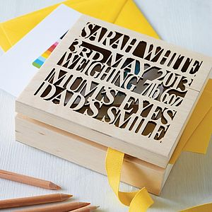 Personalised Wooden Baby Keepsake Box - birthday gifts for children