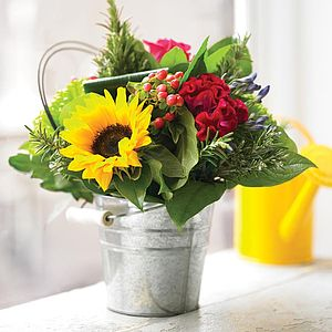 Bucket Of Summer Flowers - table decorations