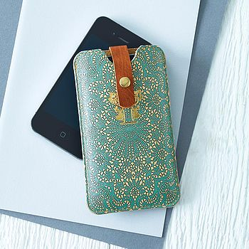 Printed Lace Leather Phone Case