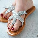 Silver Beaded Starfish Sandals