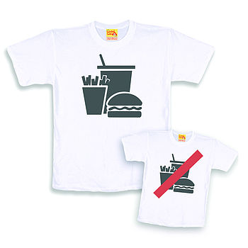 'Junk' Dad And Child T Shirt Twinset