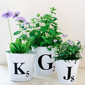 Letter Tile Style Bucket - decorative accessories