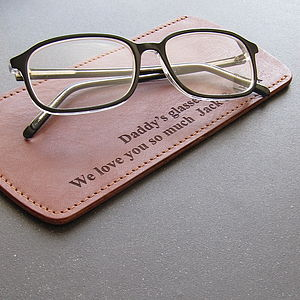 Personalised Leather Glasses Case