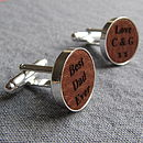 Leather Cufflinks