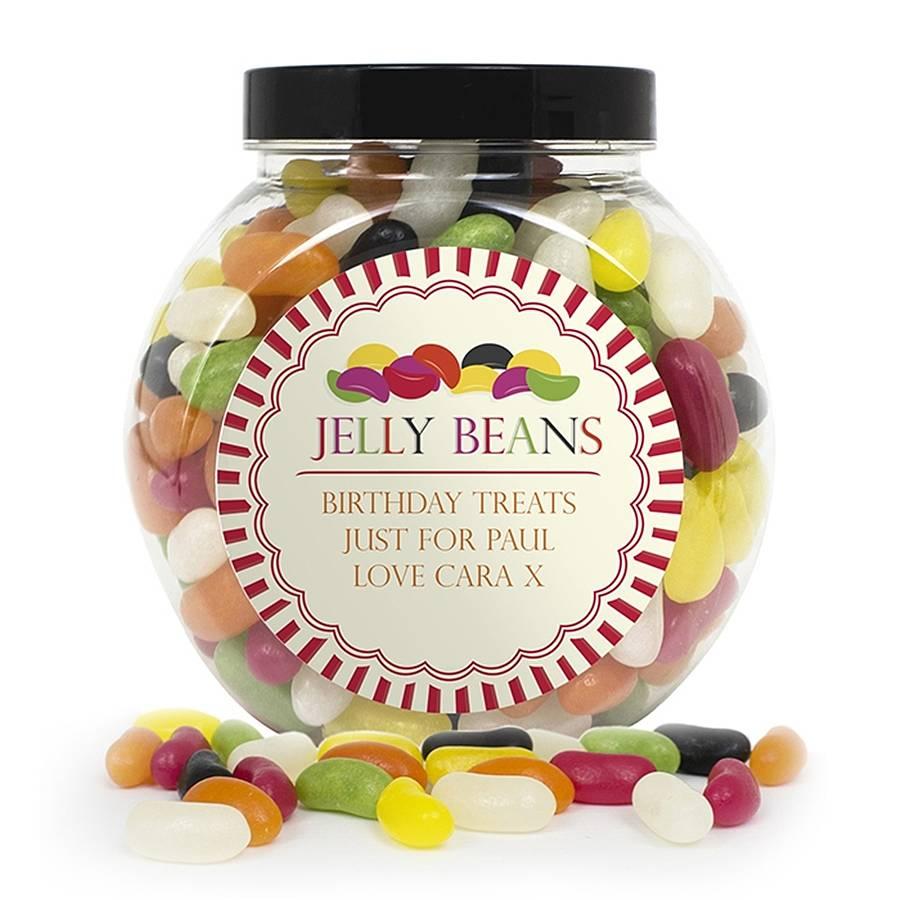 Personalised Jelly Beans Sweet Jar