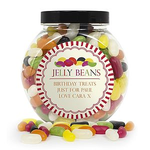 Personalised Jelly Beans Sweet Jar - personalised