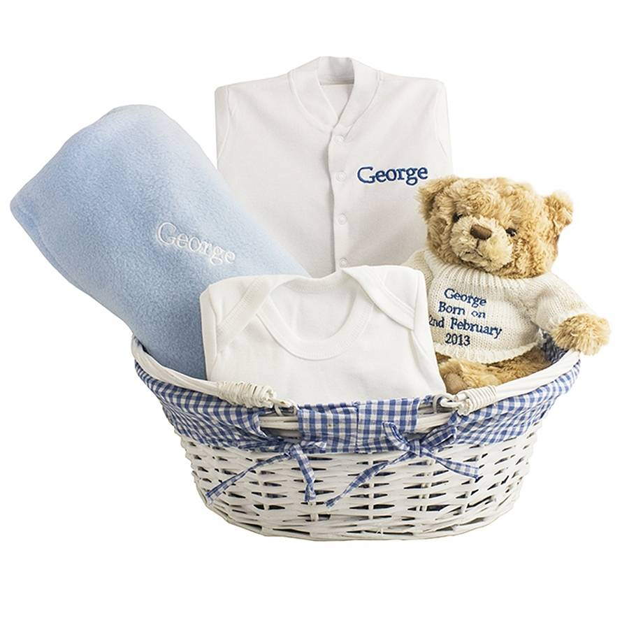 Baby Boy Gifts Baskets : Personalised baby boy gift basket by hope and willow