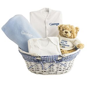 Personalised Baby Boy Gift Basket