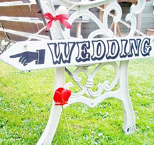 Personalised Carnival Wedding Direction Sign - personalised