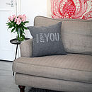 'I Adore You' Cushion Cover