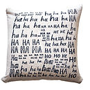 'Laughter Is The Best Medicine' Cushion Cover