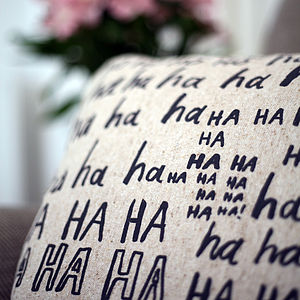 'Laughter Is The Best Medicine' Cushion Cover - cushions