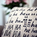 'Laughter' Cushion Cover
