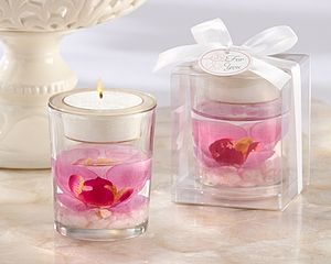 Orchid Tealight Holder - wedding favours