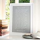 What Is A Grandfather Poem Print