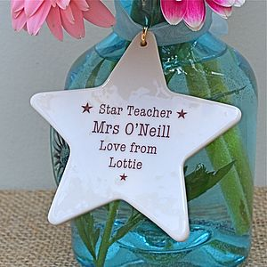 Personalised Teacher's Gift - ribbon & wrap