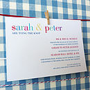 Tying The Knot Personal Wedding Stationery