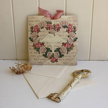 Heart Of Roses Vintage Wedding Invitation