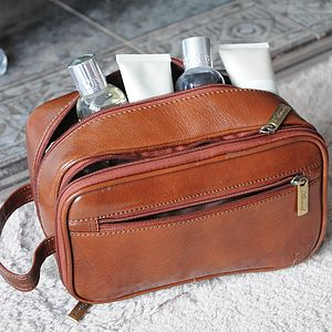 Full Grain Leather Wash Bag - wash & toiletry bags