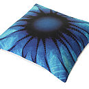 Indigo Sunflower Cushion
