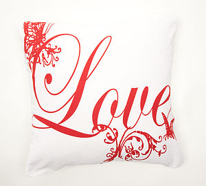 Valentine 'Love' Cushion Cover - cushions
