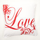 Sale £10.00 'Love' Feather Cushion