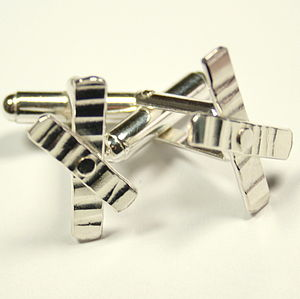 Riveted Cross Cufflinks - men's jewellery
