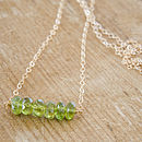 Thumb green garnet nugget necklace