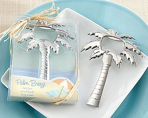'Palm Breeze' Chrome Bottle Opener - wedding favours