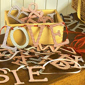 Alphabet Bunting Letter - living room