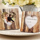 'Rustic Romance' Faux Wood Place Card Holder