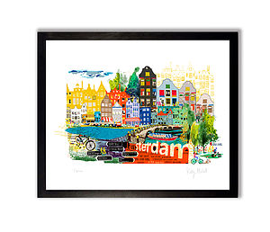 Amsterdam City Print - 100 limited edition art prints