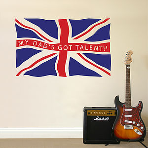 Personalised Fly The Flag Wall Sticker - wall stickers