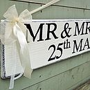 Personalised Vintage Wedding Direction Sign
